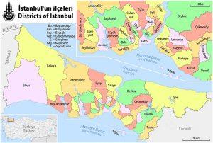 شهرستان، سمت و محله در ترکیه