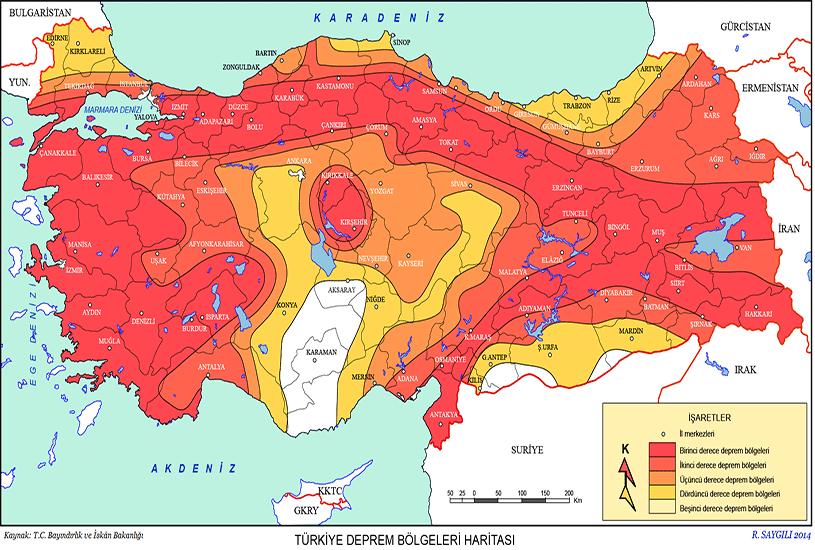 مناطق زلزله خیز ترکیه 1
