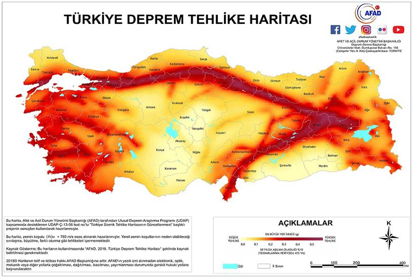 مناطق زلزله خیز ترکیه 4