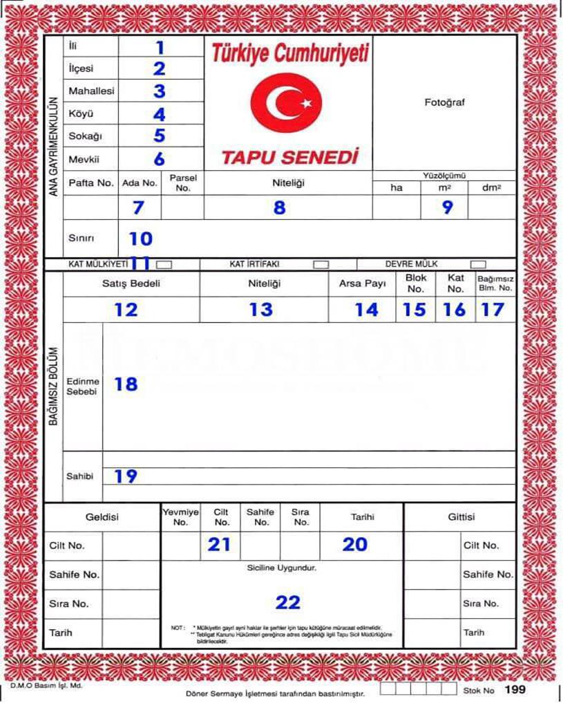 تفاوت سندهای ملکی آبی و سرخ در ترکیه چیست؟ 3